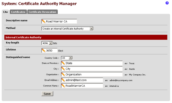 Creating Internal Certificate Authority